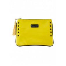 Лакированный клатч цвет Желтый