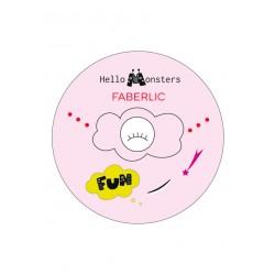 Наклейка светоотражающая «Monsters» Faberlic цвет Розовый