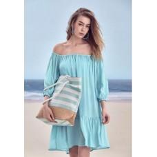 Пляжная сумка Faberlic цвет Голубой/Белый
