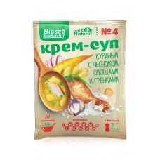 Крем-суп № 4 «Куриный с чесноком, овощами и гренками» BIOSEA
