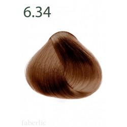 Стойкая питательная крем-краска для волос «Botanica» Faberlic тон Огненная хризантема 6.34